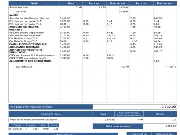 Le bulletin de salaire à partir de janvier 2019